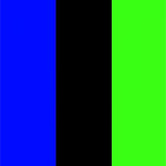 Blue/Black/Neon Green